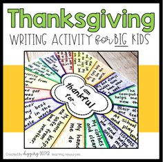 Thanksgiving Writing Activity for Big Kids -