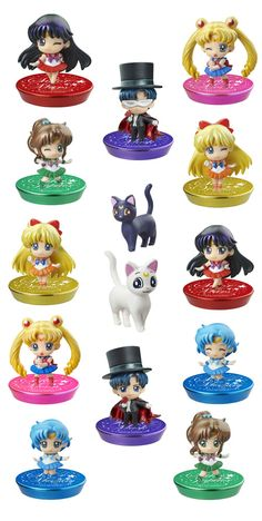 Sailor Moon Petit Chara Pretty Soldier Trading Figure 6 cm You´re Punished Assortment (6)  ( Megahouse )