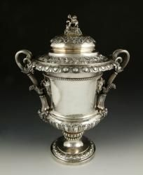 George III Lidded Wine Cooler with Grape Motif, Sterling The Estate of Mary L. Alchian of Palm Springs, CA | Kaminski Auctions 1/18/15