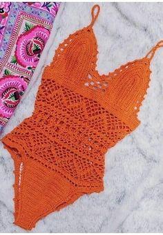 Best Free Crochet Bikini Patterns 2019 - Page 32 of 46 - womenselegance. Crochet Bikini Pattern Free, Bikinis Crochet, Crochet Bra, Swimsuit Pattern, Crochet Bikini Top, Crochet Clothes, Free Crochet, Crochet Patterns, Bikini Inspiration