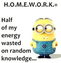 Trendiest Minion Memes Quotes Minion Memes Hilarious So True Source by Our Reader Score[Total: 0 Average: Related photos:Minions Quotes Of The Week -gute nacht bilder lustig - Gb Bilder Funny Family Jokes, Funny Jokes For Kids, Funny School Memes, Family Humor, Stupid Funny Memes, Funny Relatable Memes, Hilarious Jokes, Funny Minion Videos, Funny Minion Pictures