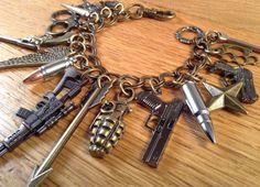 Zombie Apocalypse Charm Bracelet ZA317. Limited by NormanJewelry