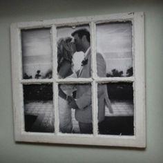 Large photo in an old window pane.beautiful lindseymcc Large photo in an old window pane.beautiful Large photo in an old window pane. Old Window Panes, Window Frames, Window Ideas, Window Art, Window Mirror, Window Poster, Faux Window, Mirror Glass, Window Panels