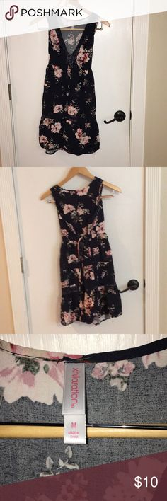 Exhilaration Medium Dress Exhilaration Medium Dress Perfect For Spring or Summer Black with Flowers   Gently Used Great Shape Smoke Free home 🚭 If Interested Please Send Me A Reasonable Offer!  Thank You For Stopping By My Closet! Xhilaration Dresses Mini