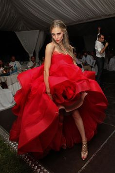 Only a daring bride with fashion sense & style could wear this stunning #redweddingdress by #VeraWang… See more  http://www.love4wed.com/red-wedding-dress-vera-wang/