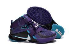 quality design c221c 51e7d 1830   Nike Zoom Lebron Soldier 9 Herr Svart Blå Lila Vit Lagun  SE861861sjWDjvU Cheap Nike