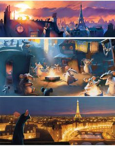 Robert Kondo - Ratatouille concept art