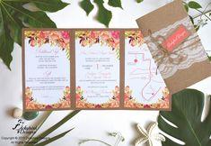 Rustic Coral Wedding Invitation Brown Wedding Invitations, Coral Wedding Invitations, Rustic Invitations, Invitation Cards, Rustic Wedding, Our Wedding, Frame, Picture Frame, Frames