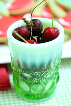 cherries.....like the glass they are in.