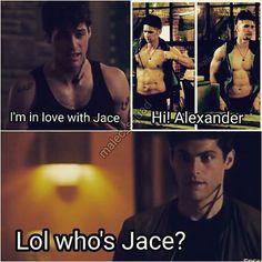 Jace??? Who?  #Shadowhunters #malec