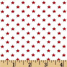 This cotton print is perfect for quilting, apparel and home decor accents.  Colors include white and red.