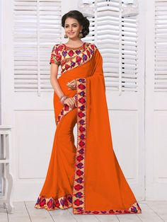 Digital Printed Multi Colored Saree Collection - B