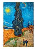 Road with Cypresses Prints by Vincent van Gogh