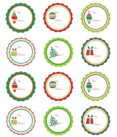 FREE Christmas labels and gift tags