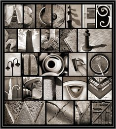 Alphabet photo art gallery