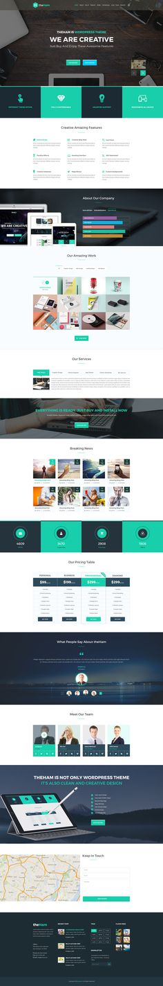 Free Creative Landing Page PSD Template | uihive