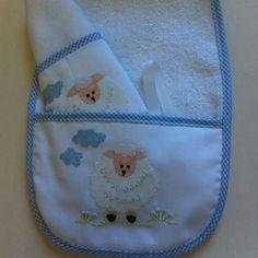 kit de babador para bebê. lia bordados