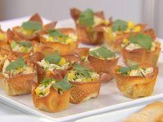 Crab Salad in Crisp Wonton Cups from CookingChannelTV.com