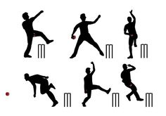 Cricket Player Vector 265493 -   Cricket bowler (pitcher) player silhouette set.  - https://www.welovesolo.com/cricket-player-vector-4/?utm_source=PN&utm_medium=weloveso80%40gmail.com&utm_campaign=SNAP%2Bfrom%2BWeLoveSoLo