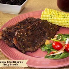 Spicy Blackberry BBQ Steak recipe