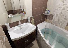 Budget Bathroom, Bathroom Renovations, Bathroom Interior, Modern Bathroom, Small Bathroom, Master Bathroom, Ceramic Tile Bathrooms, Decorating Blogs, Corner Bathtub