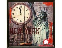 Καμβάς σε πλαίσιο & ρολόι Clock, Wall, Holiday, Home Decor, Watch, Vacations, Walls, Interior Design, Clocks
