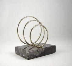 Mid Century Modern Spiral Marble Desk Caddy Vintage by Modernera