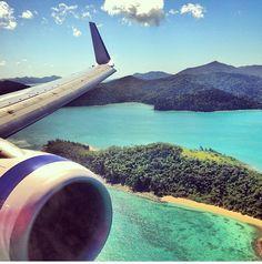 Looking over Hamilton island