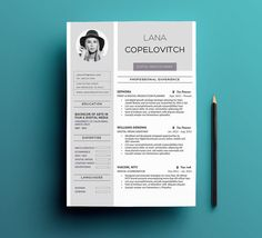 Cover Letter In A Resume Adorable Resume Template & Cover Letter  Pinterest  Template Business .