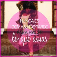 Haz lo que amas!! #sinprejuicios #amar #vivir #sentir #libertad http://www.littleclosetboutique.com/
