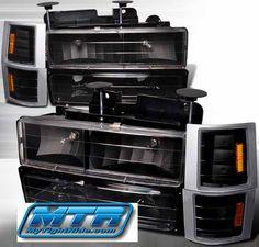 Chevrolet Headlight Replacement Lenses Silverado C K 10 Truck 1988 1989 1990 1991