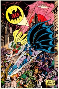 Batman & Robin Pin-Up by Dick SprangDETECTIVE COMICS #600...