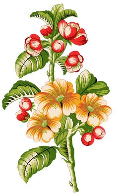 Folk Art Flowers, Botanical Flowers, Flowers Nature, Flower Art Images, Egyptian Art, Kurta Designs, Watercolor Flowers, Birds, Fine Art