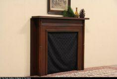 Oak 1900 Architectural Salvage Fireplace Mantel & Surround