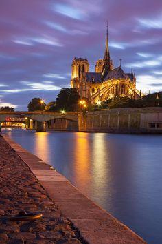 Twilight Over Notre Dame Photograph  - Twilight Over Notre Dame Fine Art Print I dream of going again! Someday...