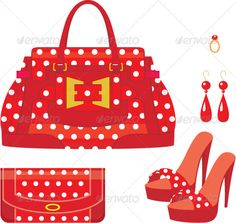 Female bag, purse and shoes on a heel  #GraphicRiver         Vector illustration, color full, no gradient, no mesh.     Created: 14February12 GraphicsFilesIncluded: JPGImage #VectorEPS #AIIllustrator Layered: No MinimumAdobeCSVersion: CS Tags: Fashions #accessories #bags #casual #collection #cutout #design #elegant #females #feminine #glamour #handbag #handles #isolated #ladies #leather #luxury #red #set #shoes #style #stylish #trend #womens