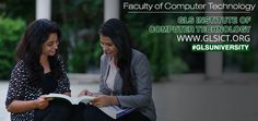 #Faculty of #ComputerTechnology #GLSICT GLS ICT offers a full-time Master of Computer Applications (MCA) programme under GLS University.  Log on to www.glsict.org for more info. #GLSUniversity