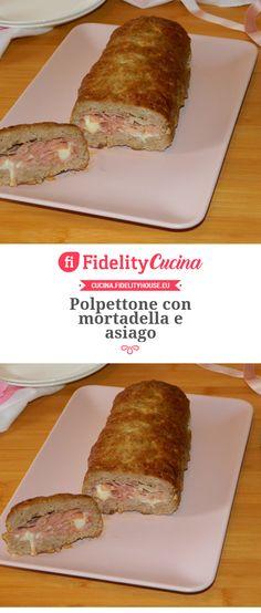ttone con mortadella e asiago Best Italian Recipes, Favorite Recipes, Arancini, Food Humor, Antipasto, Easy Cooking, Banana Bread, Slow Cooker, French Toast