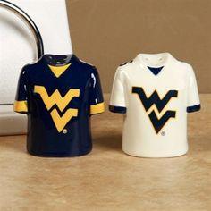 #ultimate tailgate & #fanatics  West Virginia Mountaineers Gameday Ceramic Salt & Pepper Shakers