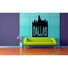 Dallas City Wall Art Sticker Decal