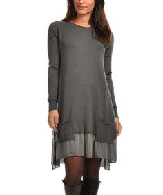Another great find on #zulily! Gray Lily Dress #zulilyfinds
