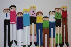 Clothes Pin People Craft for Kids by like a pretty petunia