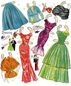 Fashions for the Modern Miss, early 1957 Saalfield #2766 (5 of 10).  (Rita and Ann on front cover, Sue and Pam on back cover. Rita & Sue can wear same clothes, as can Ann & Pam.  #2766 has more pages than orig #1736.) | Bobe | Picasa Webalbum