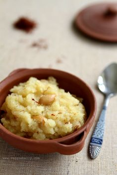 Pineapple Kesari (Semolina Pudding) by veggiebelly #Kesari #Pudding #veggiebelly