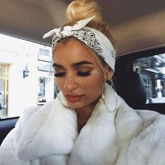 Pia Mia princesspiamia on October 2016 Dread Hairstyles, Bandana Hairstyles, Baddie Hairstyles, Cool Hairstyles, Bad Hair, Hair Day, Bandana Pelo, Pia Mia Outfits, Pia Mia Style