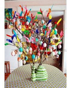 """My Paskris #eastertree from a few years back (tutorial over on @aunt_peaches ). Glueing the…"""