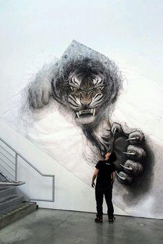 Muralist Fiona Tang.
