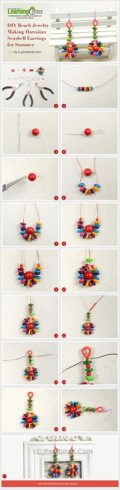 DIY Beach Jewelry-Making Hawaiian Seashell Earrings for Summer