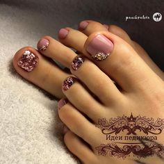 Chic Pedicure with Rhinestones ❤️Best Toe Nail Art Ideas for Summer 2018 ❤️ See more: https://naildesignsjournal.com/toe-nail-art-ideas/ #naildesignsjournal #nails #nailart #naildesigns