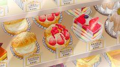 I'm just someone who wants to eat anime food. Anime Cake, Anime W, Aesthetic Food, Aesthetic Anime, Cute Food, I Love Food, Anime Bento, Casa Anime, Food Cartoon